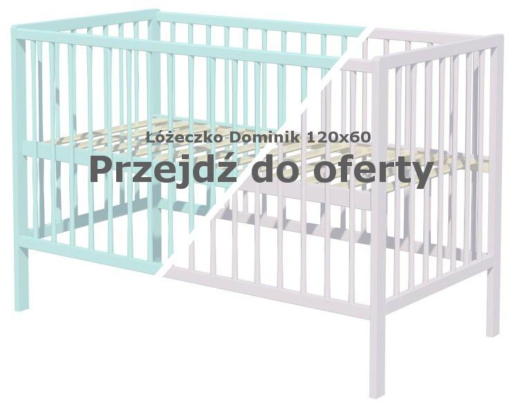 Łóżeczko dla dziecka Dominik 120x60 mietowe i szare