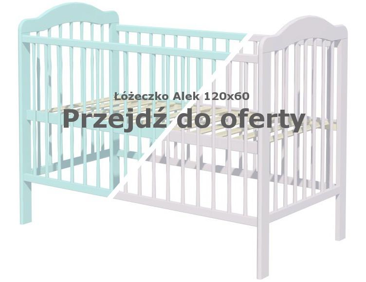 Łóżeczko Alek Mięta Szary 120x60