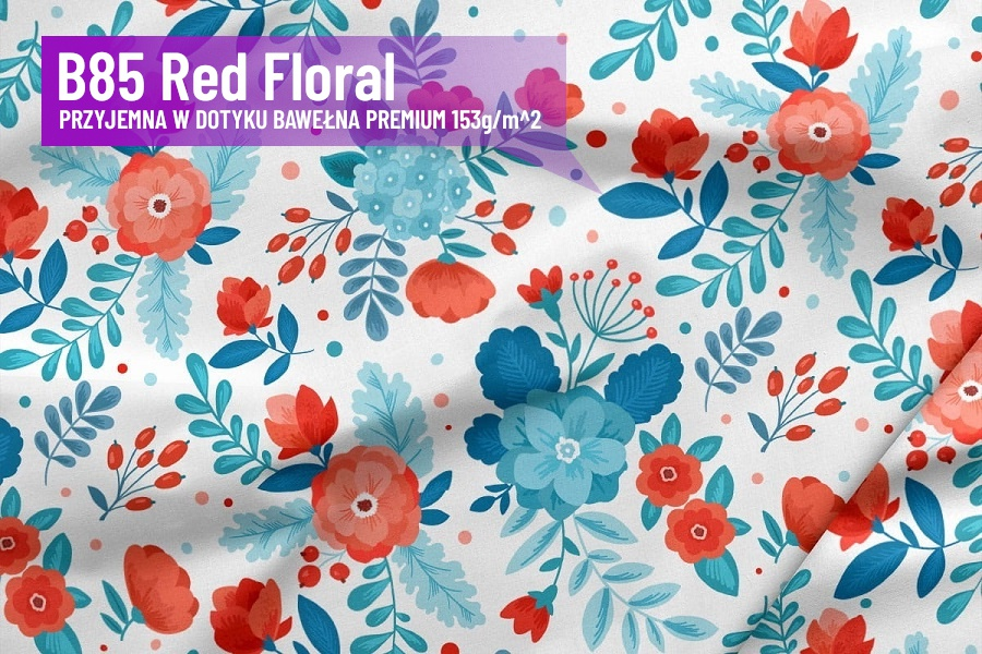B85 Red Floral