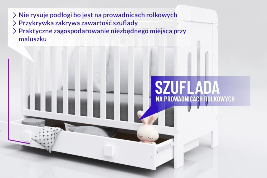 Szuflada w łóżeczku Zuza