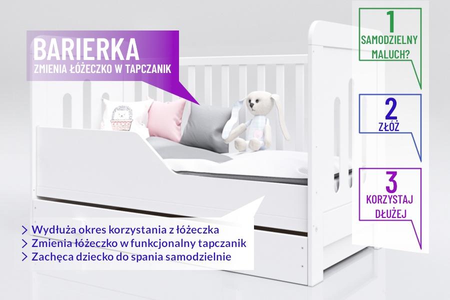 Łóżeczko tapczanik sofka Zuza 140x70