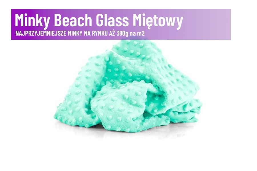 Minky Beach Glass Miętowy