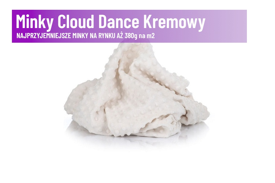 Minky Cloud Dance Kremowy
