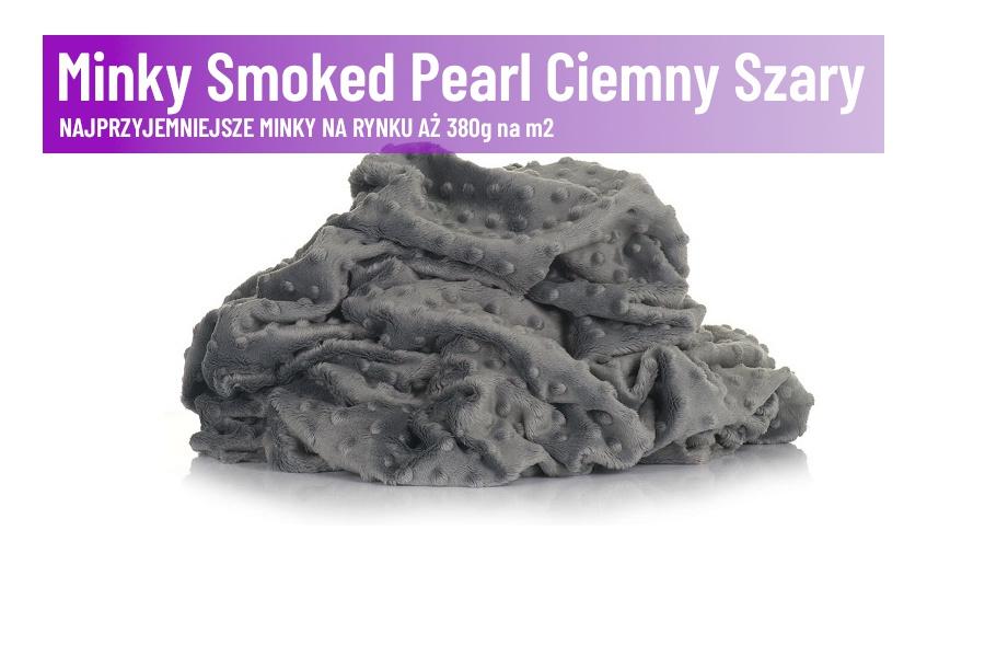 Minky Smoked Pearl Ciemny Szary