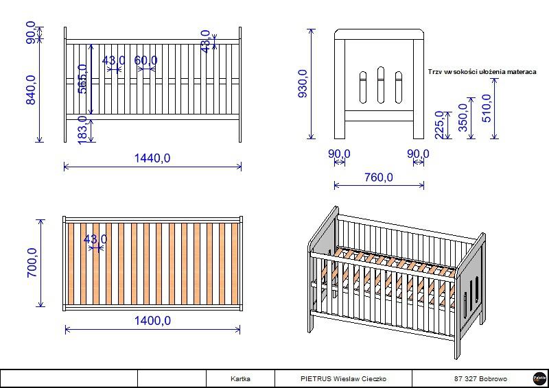 łóżeczko Zuza 140x70 Tapczanik Z Szufladą łóżeczka