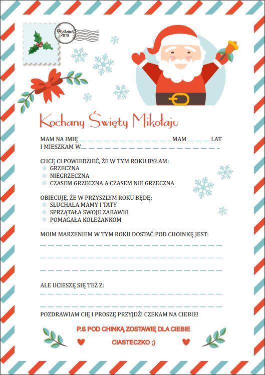 List do Świętego Mikołaja :)
