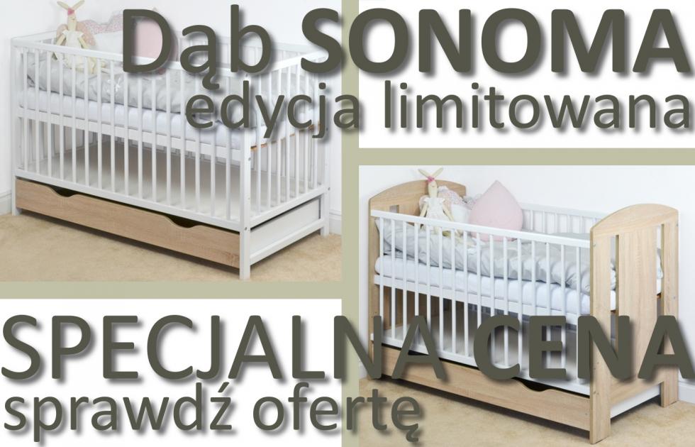 Łóżeczko SONOMA 120x60 z szufladą