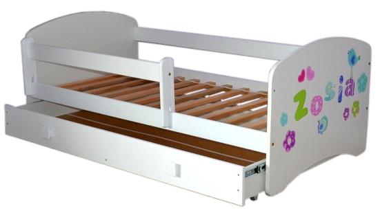 Łóżko Colors z szufladą na prowadnicy