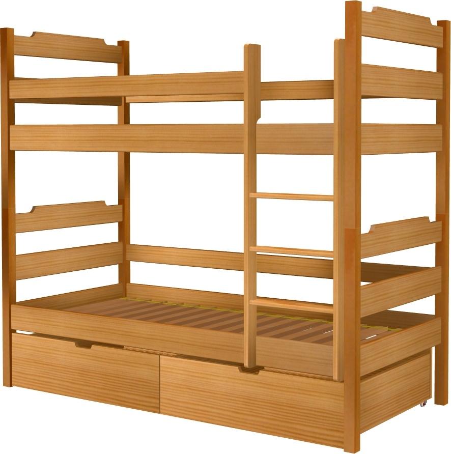 Łóżko Karol piętrowe z szufladami