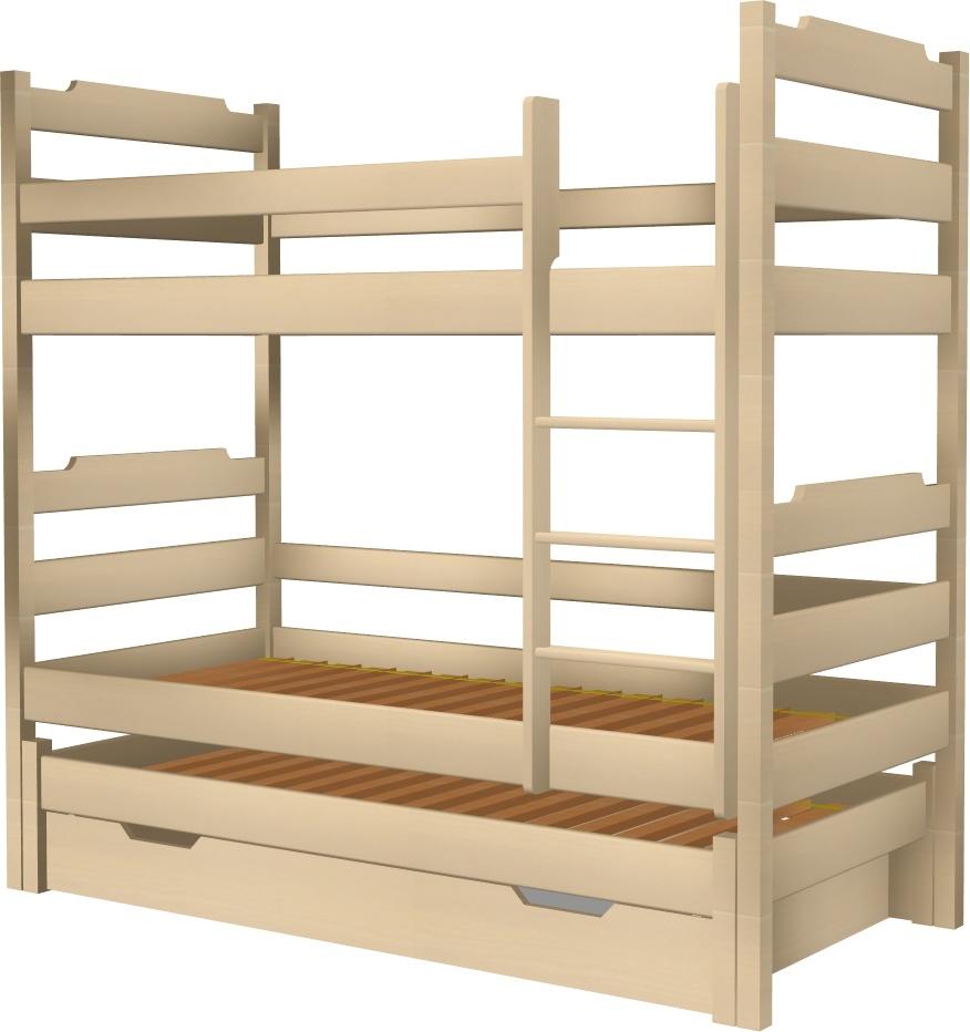 Łóżko Karol potrójne z tapczanem