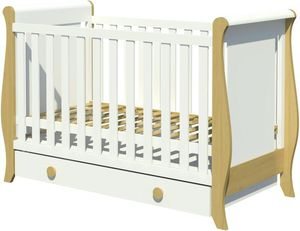 Łóżeczko Misza 120x60 z szufladą