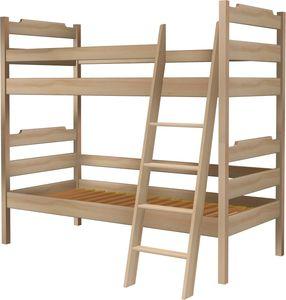 Łóżko Karol piętrowe z drabiną skośną