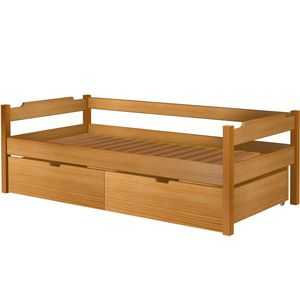 Łóżko Karol szczyt niski z szufladami