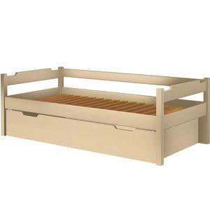 Łóżko Karol szczyt niski z tapczanem